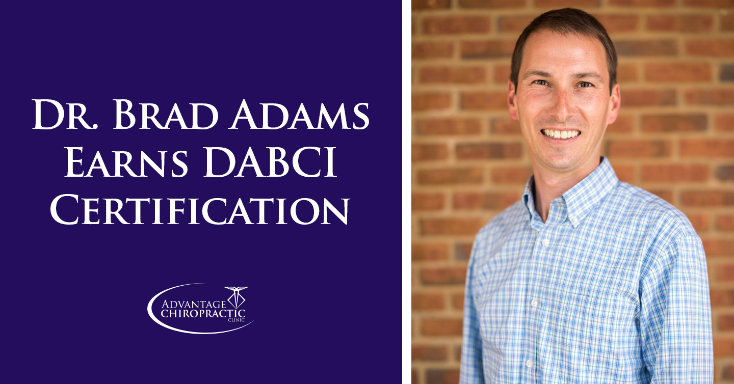 Dr. Brad Adams earns DABCI Certification
